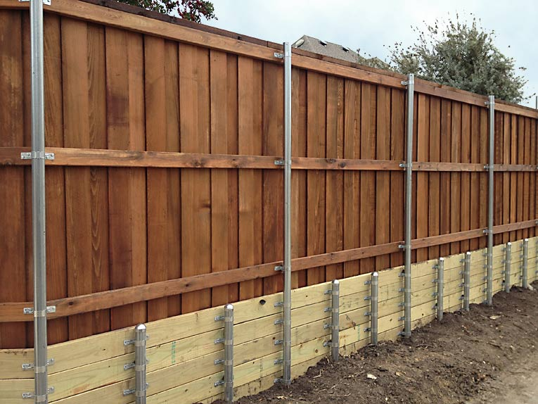 Fence Retaining Wall