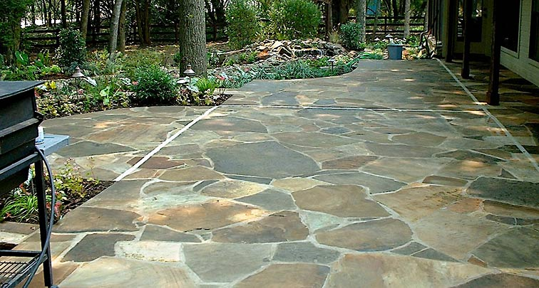 Patios and decks four seasons lawn care landscape Flagstone patios colleyville tx