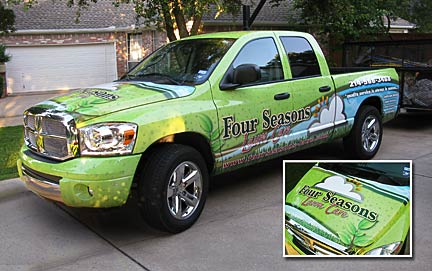 Truck Wrap with Hood