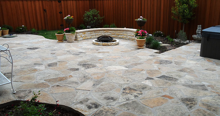 Flagstone Patio with Sitting Area