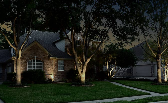 Landscape Lighting - front view