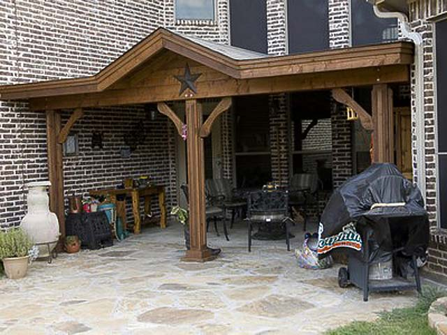 Flagstone Patio with Cedar Arbor