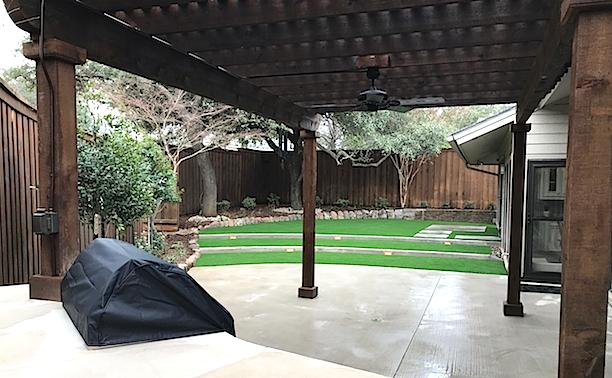 Actual Install of Patio Area & Artificial Turf Yard