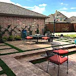 Tiered Stone Patio with Fire Pit